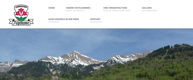 Neue Alpenrose Webseite ist online