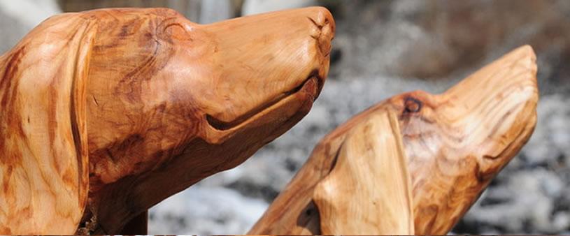 Holzschnitzereien in Hofstetten bei brienz
