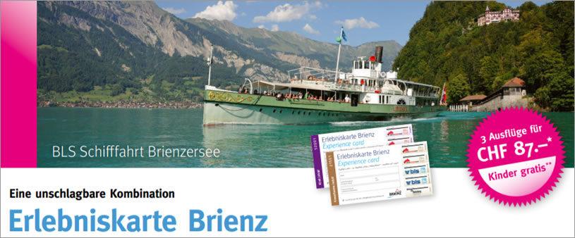 Erlebnisskarte Brienz - Übernachten in der Alpenrose beim Ballenberg